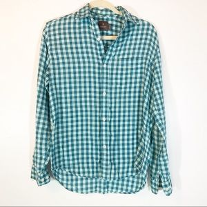 Urban outfitters teal striped top